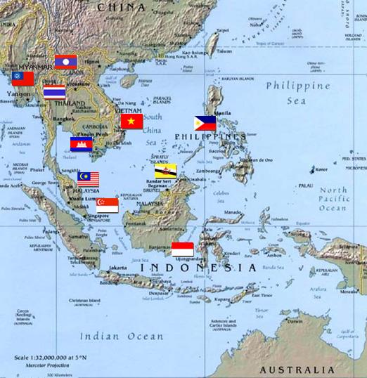 Lighthouse Travel Template Die Mitfliedsstaaten Gambar Peta Se Asean